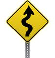 Winding road sign vector