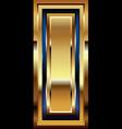 Golden font letter l vector