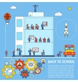 Back to school infographic template vector