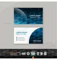 Abstract modern business-card design vector