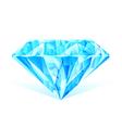 Diamond blue crystal vector