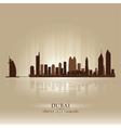 Dubai united arab emirates skyline city silhouette vector