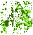 Green splashes and streaks of ink on paper vector