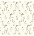 Seamless cartoon deer background vector