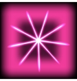 Abstract glow rays on square background vector