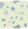 Childrens seamless texture with mice vector