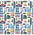 Modern city seamless pattern background vector