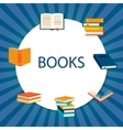 Background with books set vector