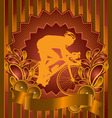 Cyclist vintage design vector