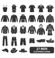 Men clothing icons vector
