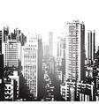 Panorama of the city cartoon vector