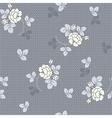 Little rose seamless background vector