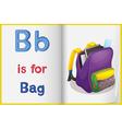 School bag and a book vector