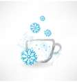 Winter cup grunge icon vector