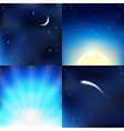 Dark blue sky vector