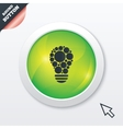 Light lamp sign icon bulb with circles symbol vector