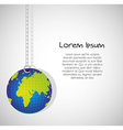 Keychain of planet isolated on white background vector