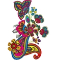Traditional flower vector