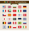 Hand draw world flags icon set vector