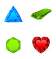 Diamonds in different colors set vector