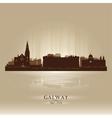 Galway ireland skyline city silhouette vector