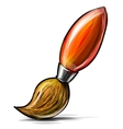Artist paint brush icon isolated on white vector