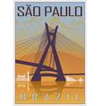 Sao paulo vintage poster vector