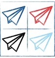 Hand drawn paper planes vector
