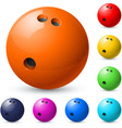 Set of bowling balls vector