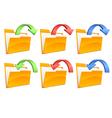 Folders with arrows vector