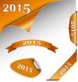 New year orange card web element vector