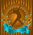 Skateboarder vintage design vector
