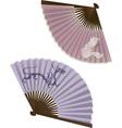Japanese fans vector