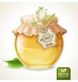 Linden honey jar vector