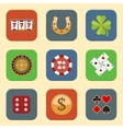Casino design icons vector