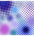 Color different abstract halftone vector