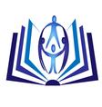 Teamwork book logo vector