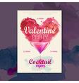 Valentine disco poster valentine background vector