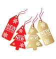 Christmas sales tag vector