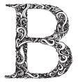 B letter capital black vector