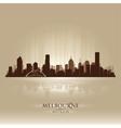 Melbourne australia skyline city silhouette vector