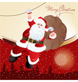 Santa claus greeting card design vector
