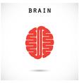 Creative brain abstract logo design templat vector