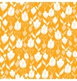 Golden tulips flowers seamless pattern background vector
