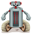 A robot with red buttons vector