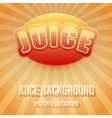 Background of label for apple juice bright premium vector