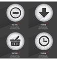 Set of one-color web buttons flat design simple vector