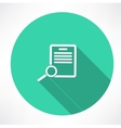 Documents search icon vector