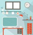 Office flat design vector