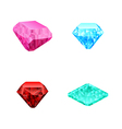 Set of different color diamonds vector
